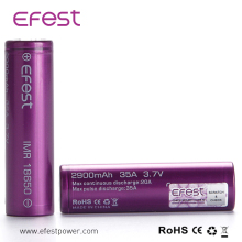 High Quality 18650 Batteries Efest Imr 18650 35A 3.7V Li Ion Rechargeable Battery