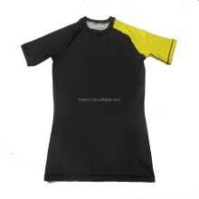 Custom Men's Fitness Rash Guard Short Sleeve Compression T-Shirt Men