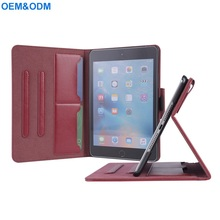 Premium Synthetic Leather Flip Cover Case For iPad Mini 4 With Card Slot Standing Positions