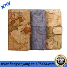 for iphone 5c world map leather cases