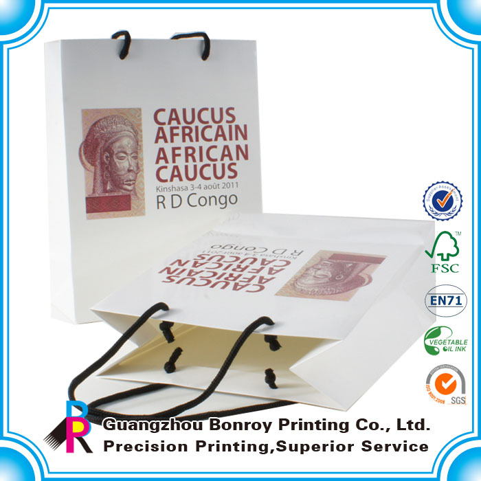 free samples promotional china made lamination raw materials of art paper bag