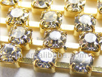 wholesale SS6.5 SS8.5 SS10 SS12 SS14 SS16 SS18 SS20 SS24 SS28 SS38 Soldering brass cup rhinestone cup chains
