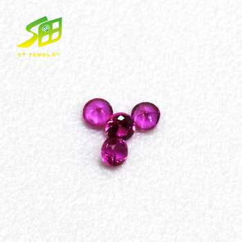 wholesale ruby price Round shape natura ruby loose gemstons