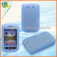 For Blackberry Torch 9800/9810 Sky blue silicone skin cover