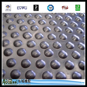 17mmx1.22mx1.83m studded mould rubber stable mat cow mat