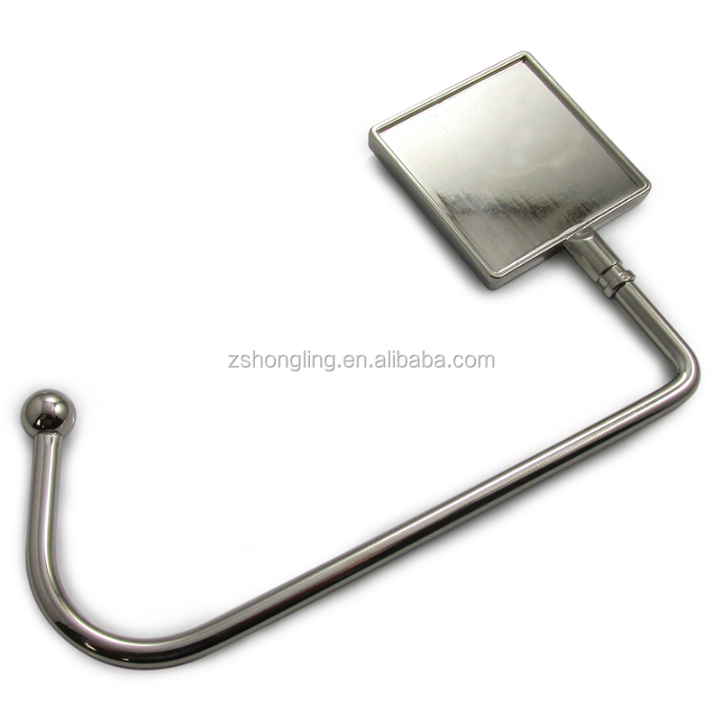 Customized Blank purse hook for tables floding bag holder