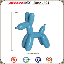 "10"" factory direct ceramic balloon dog sculpture"