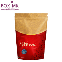 Customized Ziplock Stand Up Pouch Wheat Flour Seed Packaging Bags With Zipper