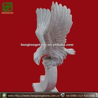 Hand Carved Granite Garden Eagle Statue