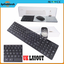 2.4G Wireless Ultra Slim Portable New Design HQ Keyboard And Mouse Combo USB Receiver Kit For PC PAD Mini Wholesale Keyboard