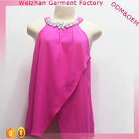 Hot Selling Ladies Top Rose Red Ladies New Design Fashion Top
