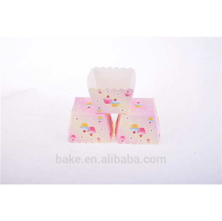 TOP sale good quality harmless square muffin paper cake cup