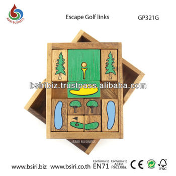 wooden puzzles and brain teasers escape golf links