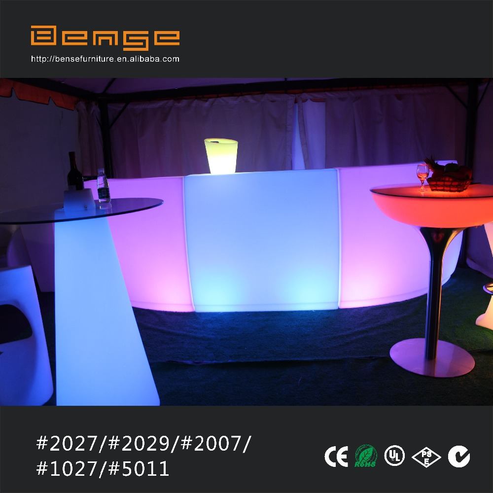portable illuminated DJ booth LED lighting bar counter