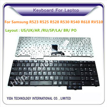 For samsung laptop keyboard RV510 R528 R530 R540 R618 R620 SP layout