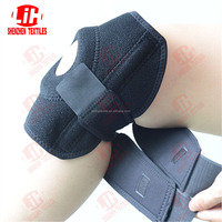 Sports recovery magnetic hook and loop adjustable support knee brace