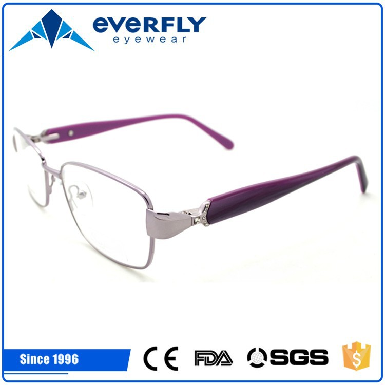 2015 Attractive oval metal eyewear frames for female