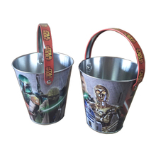 christmas metal bucket decorative small tin bucket