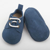 Funny baby oxford shoes blue suede leather adult baby shoes