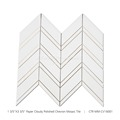 Paper Cloudy Chevron Mosaic Bathroom Floor Tiles