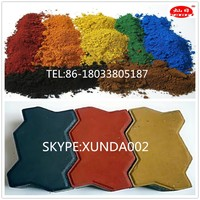 factory hot sale iron oxide red 130 110 190 and yellow 313 314 920 pigments for making buildings and construction