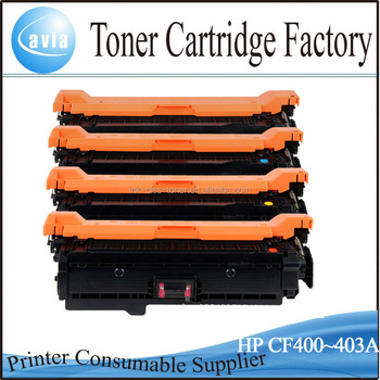 New color toner cartridge for hp CF400A CF401A CF402A CF403A(201A)