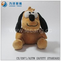 brown promotional plush stuffed animal toys dog for gift in christmas day, CE/ASTM safety stardard