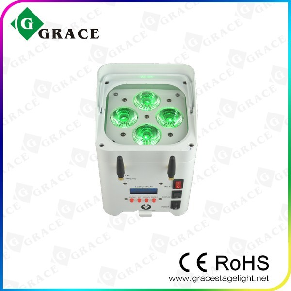 2016 New 4*12W 6in1 RGBWAUV GL-Smart4 battery powered wireless dmx led par with wifi