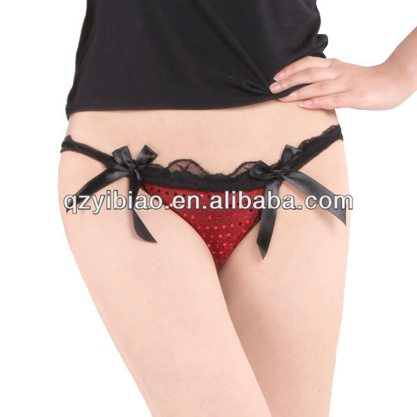 Sexy and fashion Lady's brief black G-string
