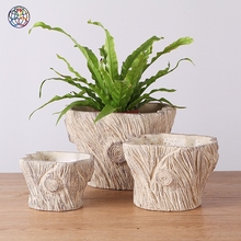 Low price modern square flower pots planter pot cement flowerpot