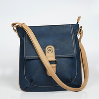 Fashion Shoulder Bag Handbag Contrast color PU cross body bag lady bag