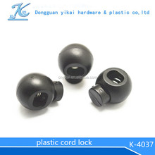 high quality round cord lock/colorful cord stopper/garment toggle
