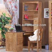 2014 Fashioned design Home/Bedroom Wooden Computer Desk with Long Book Shelf