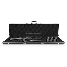 Black Aluminum Gun Case Hard Carry Case with Foam Inner