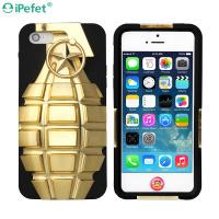 Heavy Duty Shockproof Tank Grenade 2 In 1 Silicon Gel PC Back Case For iPhone 5se