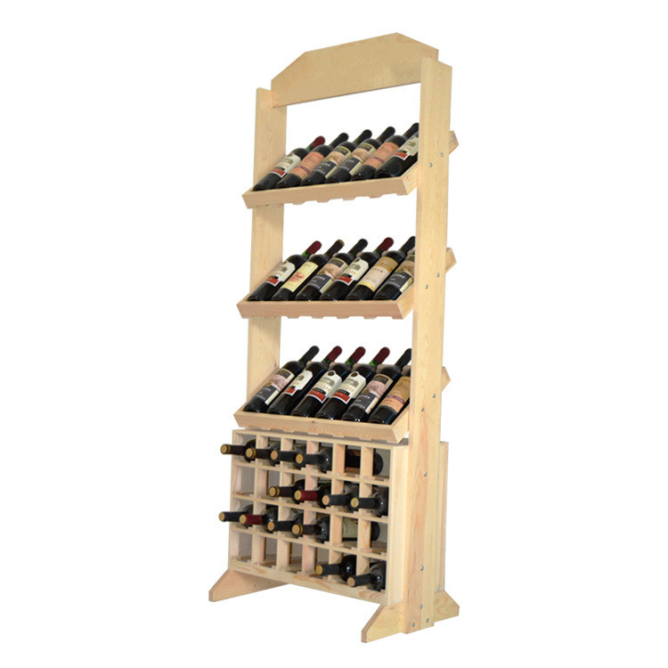 wooden modern cabinet red wine display showcase