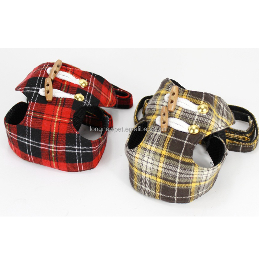 Very Cheap Look Lovely British Style Plaid Pet Leads Small Dog Harness