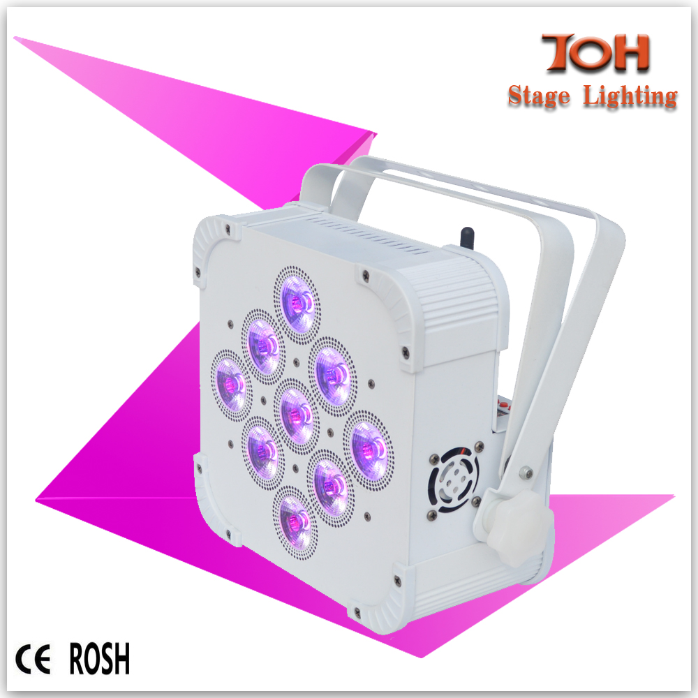 Battery Powered Wireless DMX LED Uplights for wedding lighting