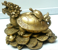 wholesale fengshui arts & crafts products brass dragon turtle sculpture
