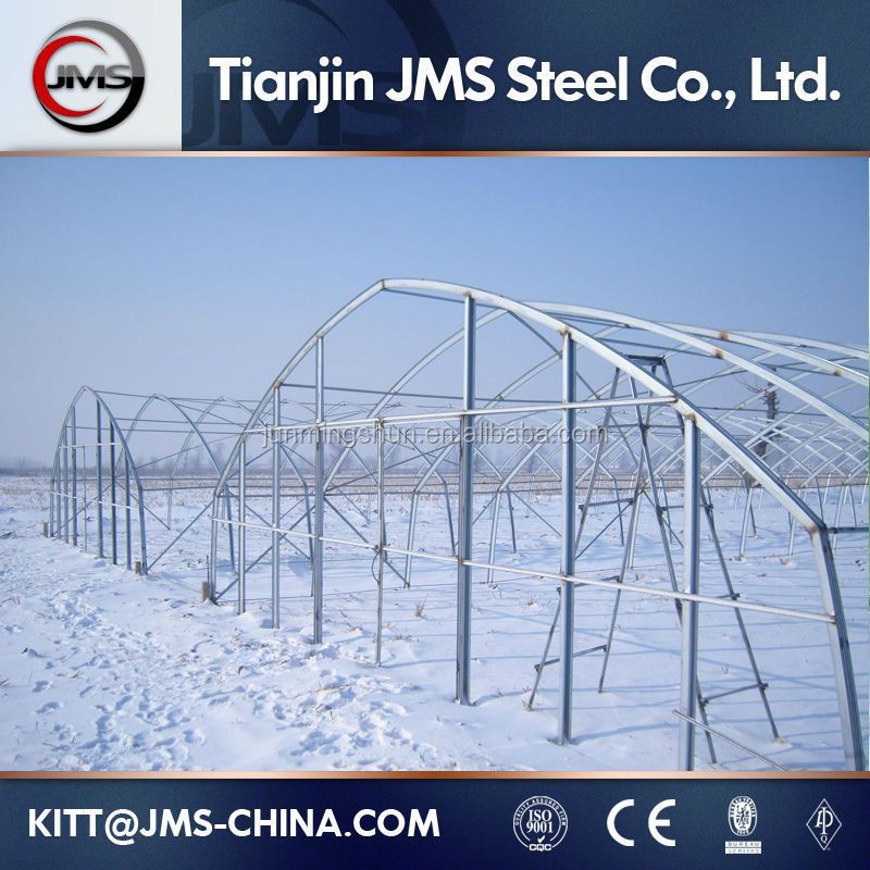 greenhouse skeleton/tunnel greenhouse for agriculture/galvanized steel frame greenhouse