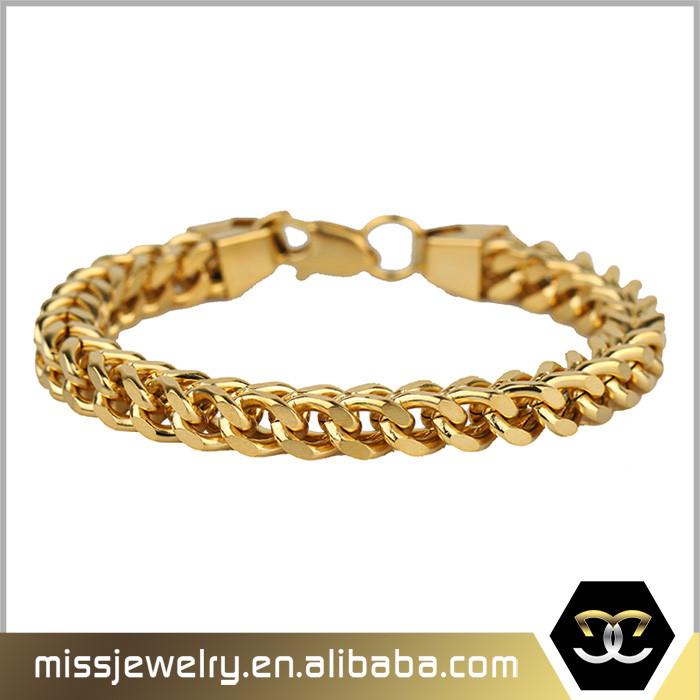 New Dubai Gold Jewelry Figaro Bracelet Designs Mens 14k