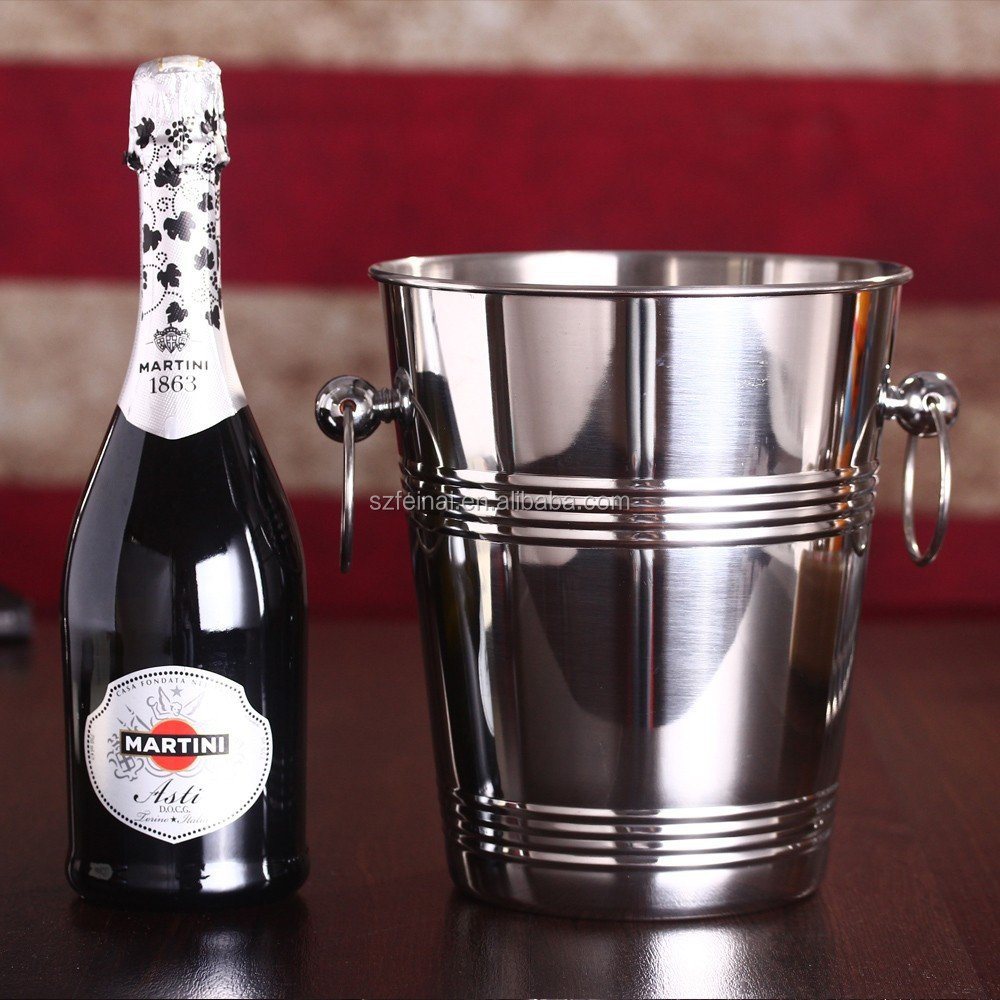 Stainless Steel 5L Wine Bottle Cooler Champagne Barrel Ice Bucket Wine Cooler Chillers Bucket Drink Beer Chiller Bar Wine Tools