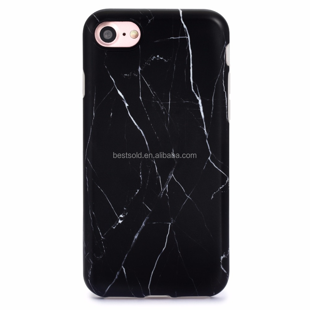 Custom IMD Full Coverage Soft TPU Gel Phone Case for iPhone 7 marble case