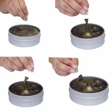 fun magnetic relieve stress metal magnetic clay gold color therapy putty