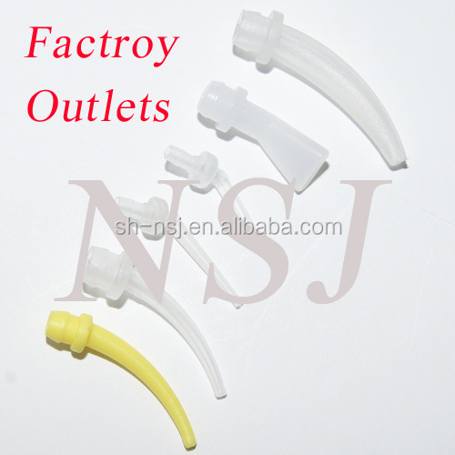 yellow mixing tip, yellow mixing nozzles; dental intra-oral tip