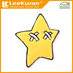 US star of design chenille embroidery patch