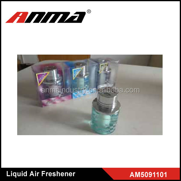 ANMA high quality hot sale liquid car air freshener , car Liquid perfume