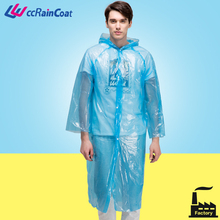 Emergency disposable rain poncho heavy duty long raincoat