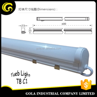 Gola intergrated plastic T8 1200mm SMD2835 16W led tube lightcircular t8 tube light 4ft led tube light fixture