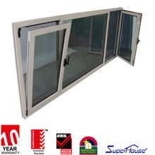double glazed aluminium tilt and turn windows with middle fixed